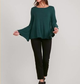 Bell Sleeve Top Green