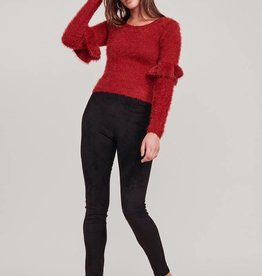 Jack Fuzzy Feelings Ruffle Sleeve Maroon