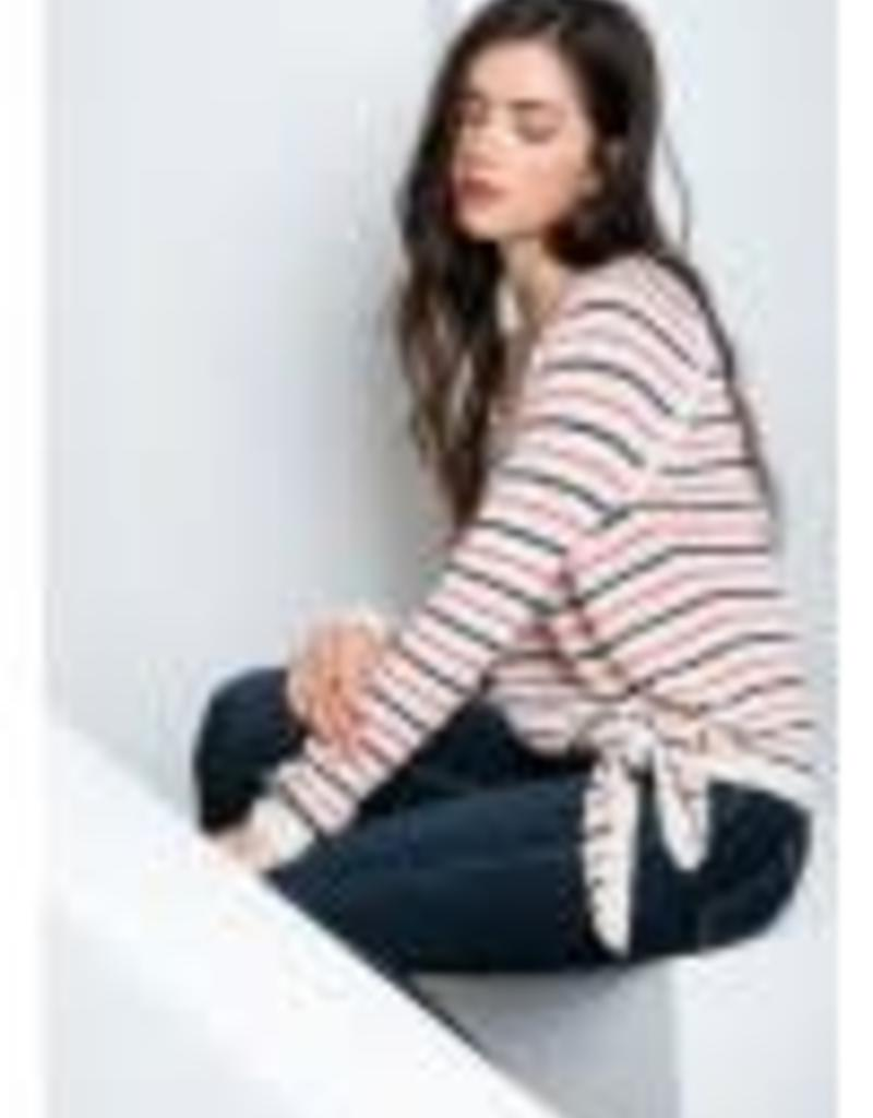 THML Clothing Stripe Tie Sweater