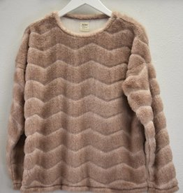 True Grit Chevron Fur Pullover