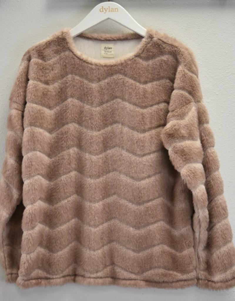 True Grit Chevron Fur Pullover