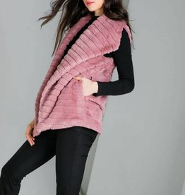 THML Clothing Plush Pink Vest