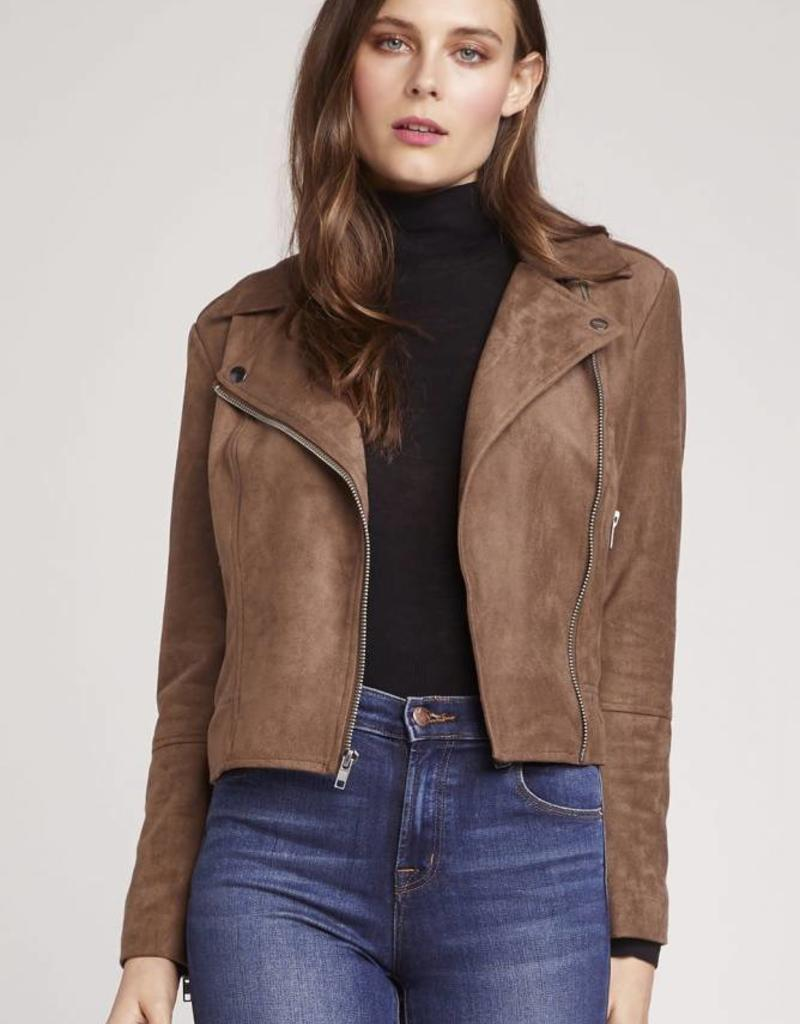 BB Dakota Suede Moto Jacket Mocha