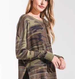 Z Supply Camo Thermal Crew Green