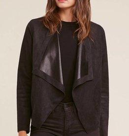 Teagan Reversible Suede/Leather Drape Jacket
