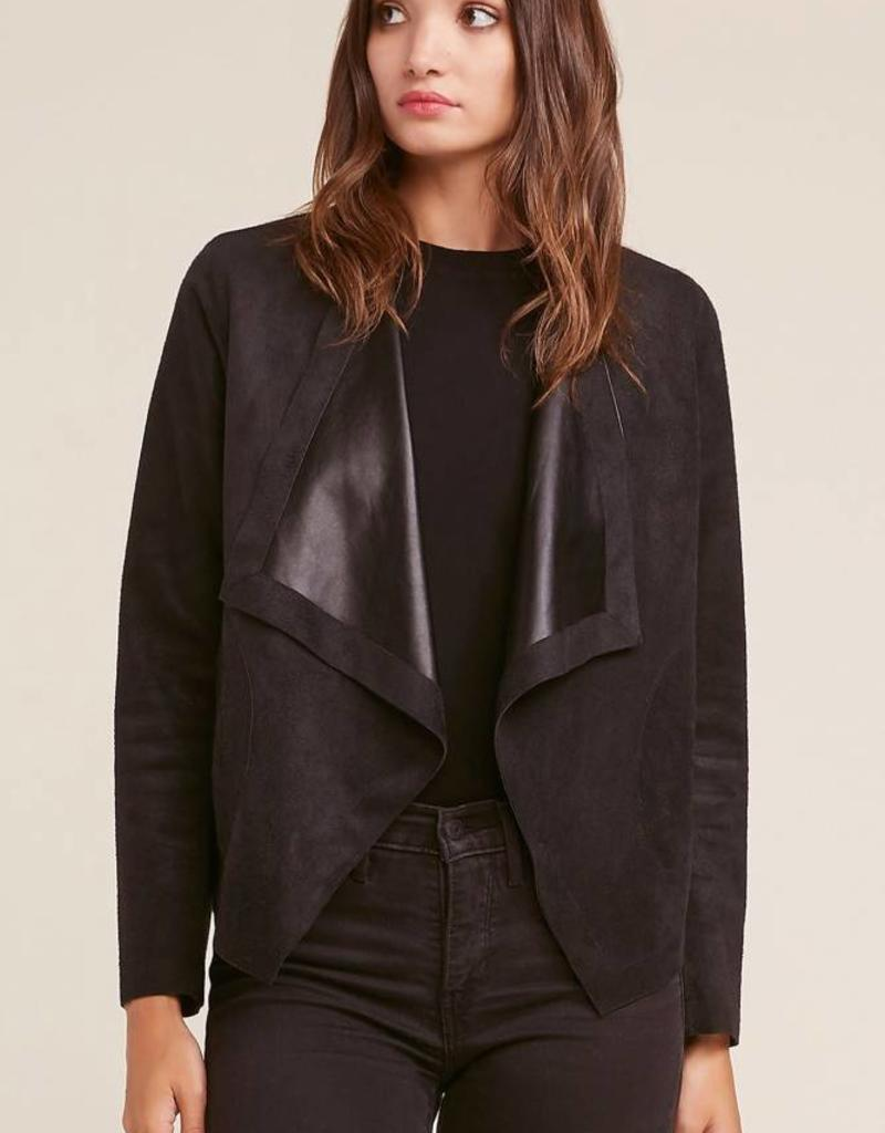 BB Dakota Teagan Reversible Suede/Leather Drape Jacket