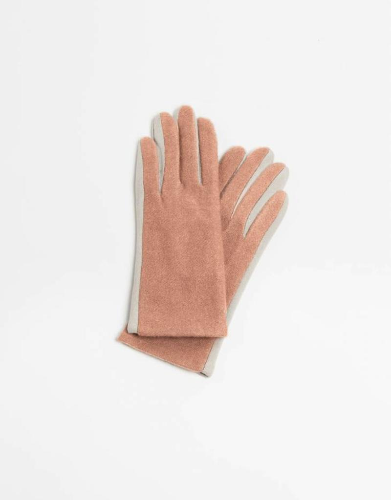 Look by M Two Tone Cashmere Gloves