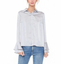 Lumiere Satin Button Down