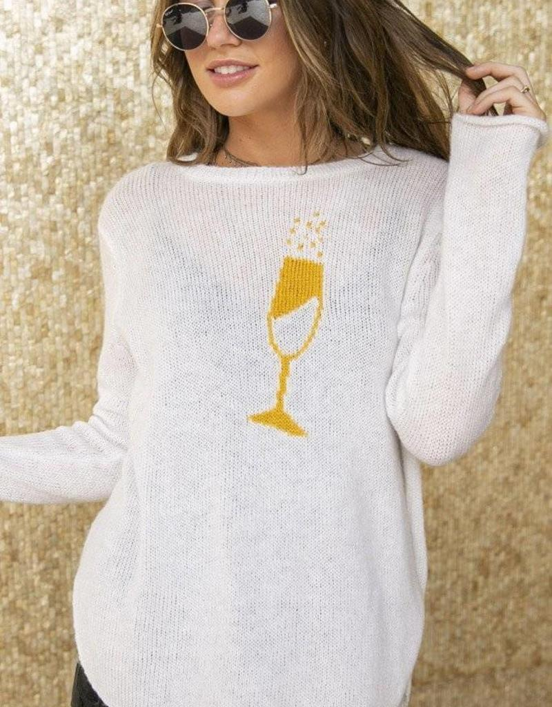 Wooden Ships Champagne Sweater White/Gold