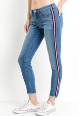 Just Black Denim Striped Seam Denim Medium Blue