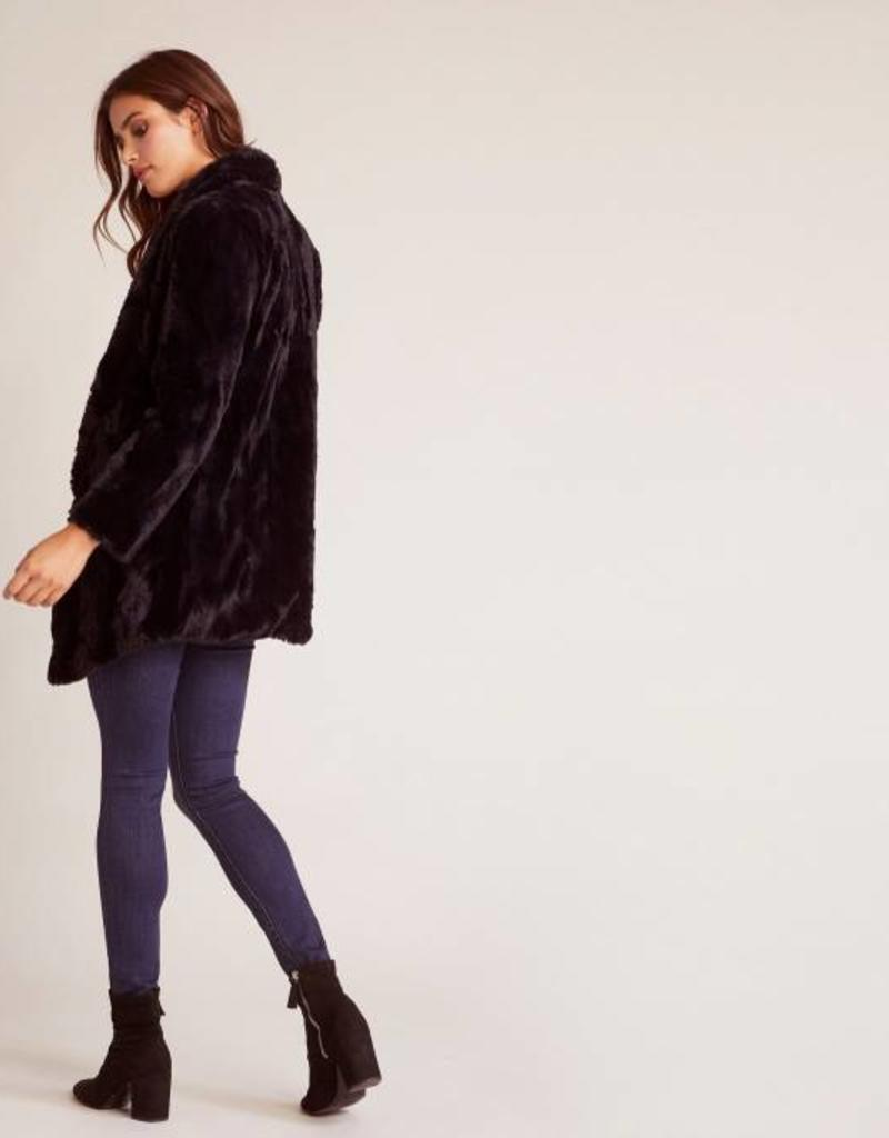 Jack Warm Thoughts Fuzzy Jacket Black