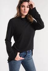 Z Supply Soft Spun Mock Pullover Black