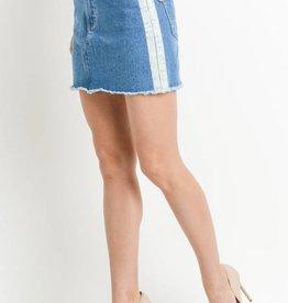 Stripe Side Denim Skirt