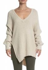 Elan V Neck Raglan Stitch Sweater
