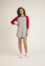 BB Dakota Baseball T-Shirt Dress Grey