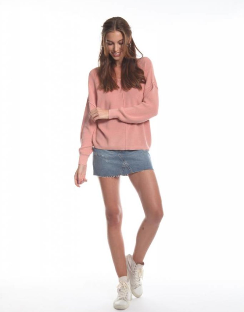 3c1ac86957a4f8 Jojo Long Sleeve Top Rose - Savvy Chic Boutique