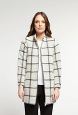 Dex Square Coat Black/White