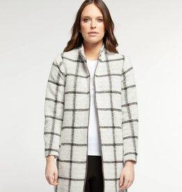 Dex Square Coat Black/White