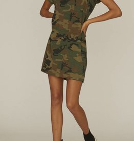 Sanctuary One Pocket Camo T-Shirt Dress