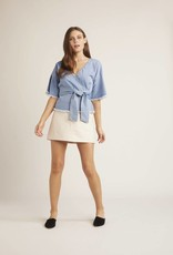 Cupcakes and Cashmere Petunia Wrap Top Blue