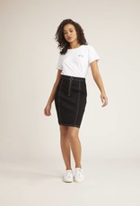 BB Dakota Zip To It Skirt Black