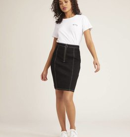 BB Dakota Zip To It Skirt Black