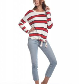 Olive and Oak Camden Stripe Sweater Red/White