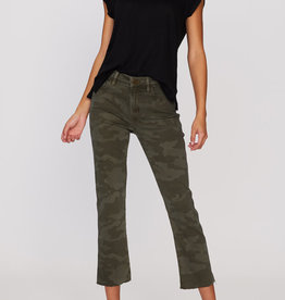 Sanctuary Straight Crop Camo Jean