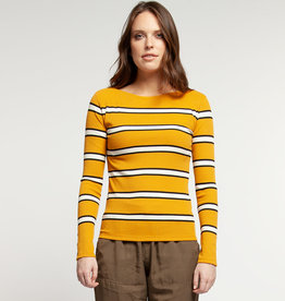 Dex Stripe LS Top Gold/Black