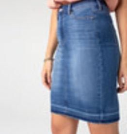 Denim Pencil Skirt Release Hem