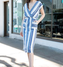 THML Clothing Stripe Dress White