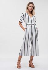 JOA Dolman Sleeve Stripe Jumpsuit