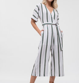JOA Dolman Sleeve Stripe Jumpsuit