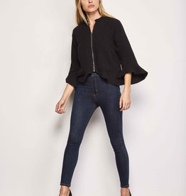 Cupcakes and Cashmere Franklin Linen Jacket Black