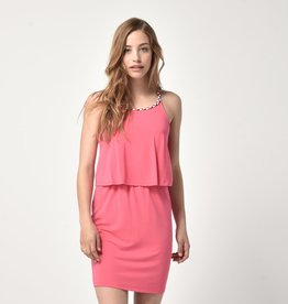 Bench Braided Strap Halter Dress Pink
