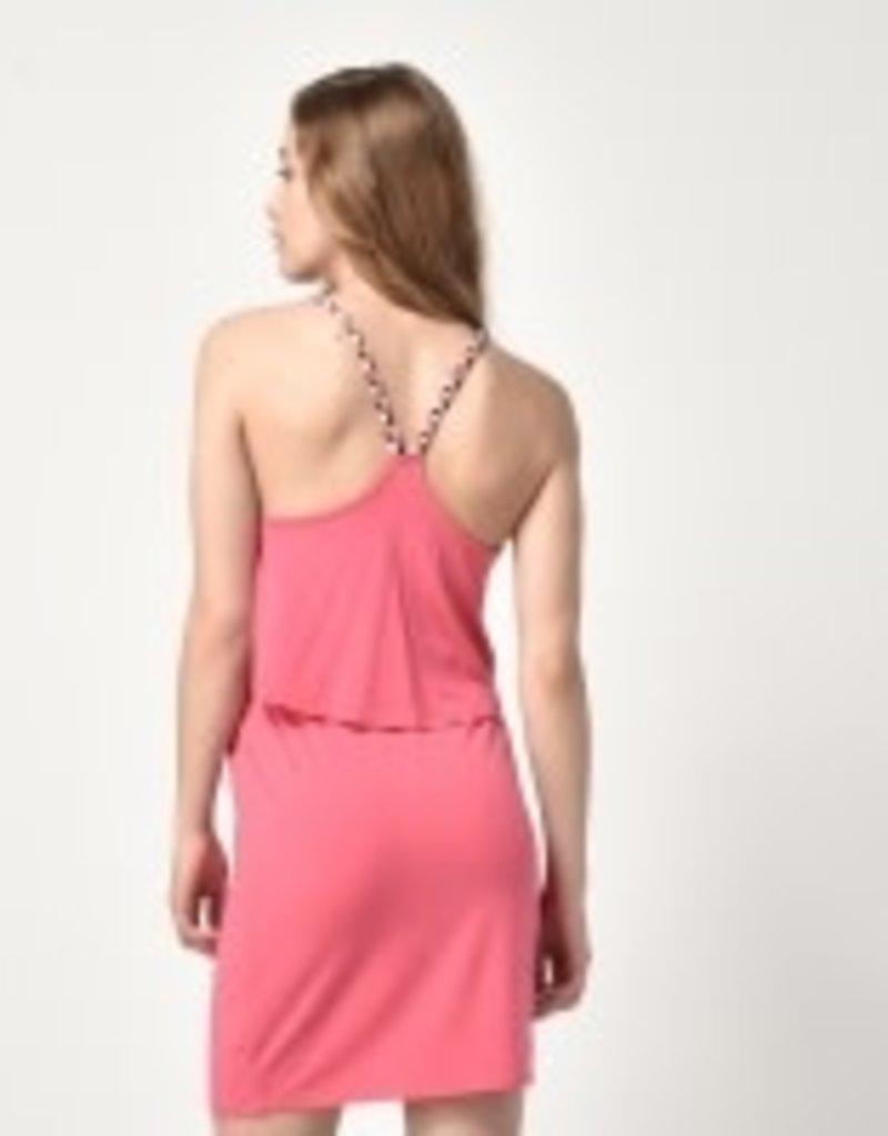 Bench Braided Strap Halter Dress Pink