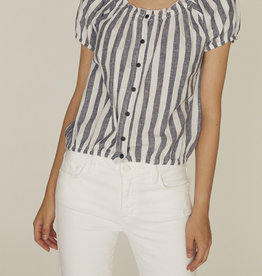 Sanctuary Shimmer Shoulder Top Multi Stripe
