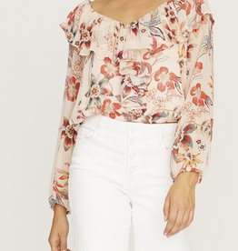 Sanctuary Lady Like Blouse Floral
