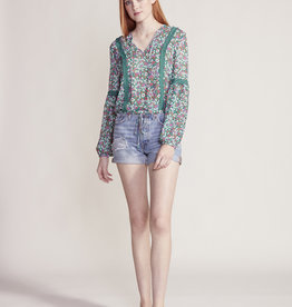 Jack Going To California Floral Blouse Green