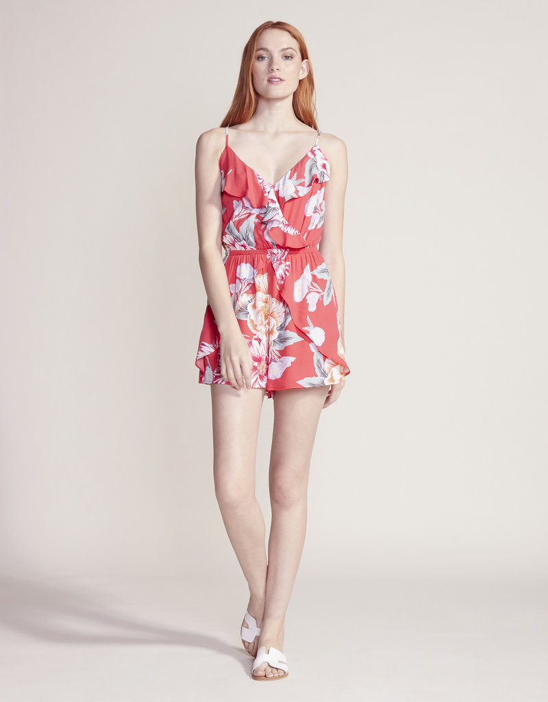 Cupcakes and Cashmere Astra Floral Romper Red