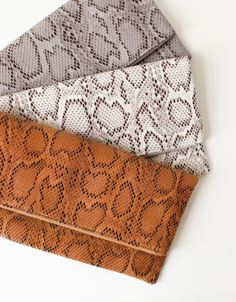 Joia Trading Snakeskin Clutch