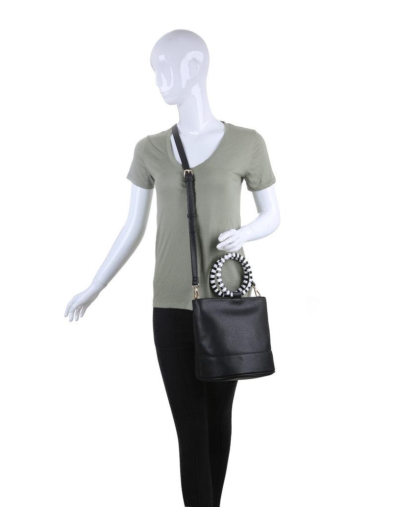Moda Luxe Tortoise Handle Handbag