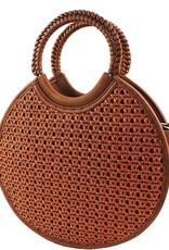 Joia Trading Woven Round Satchel w/ Long Strap