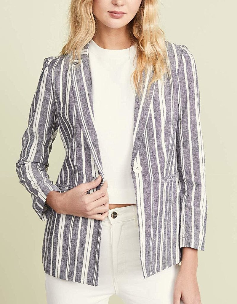 Cupcakes and Cashmere Maestro Stripe Jacket Ink