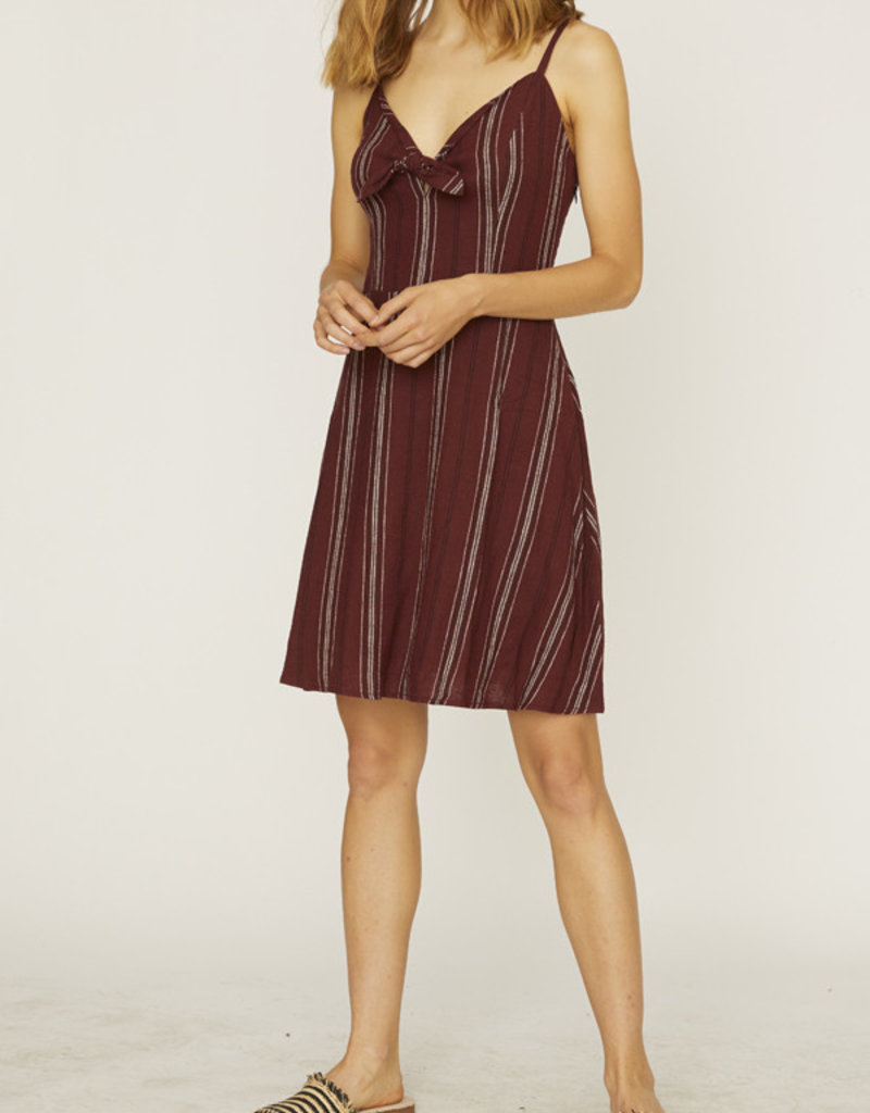 Take Away Tie Dress Multi Stripe