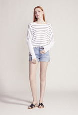 Lucky Day Stripe LS Top White