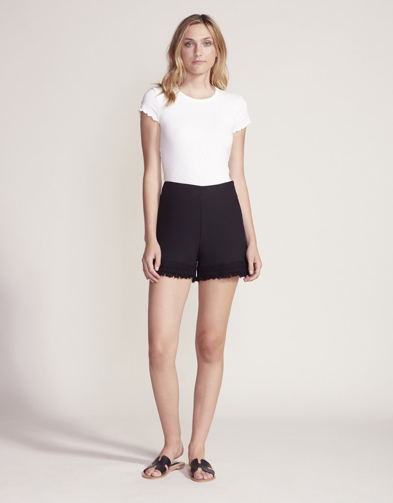 Cupcakes and Cashmere Figaro Ruffle Shorts Black