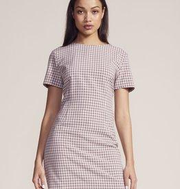 Checked Out Dress Rose Quartz