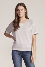 Cupcakes and Cashmere Short Sleeve Sparkle Sweatshirt Rose