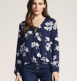 Jack Falling For It Floral Blouse Sapphire